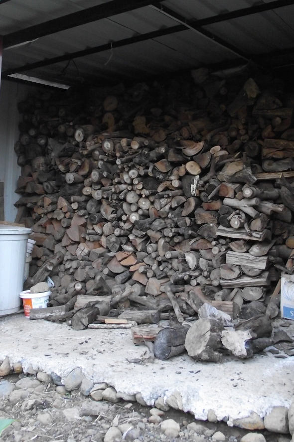 FIREWOOD STACKED READY FOR COOLER WINTER EVENINGS